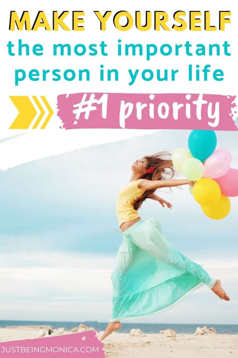 Make Yourself A Priority Girl with balloons